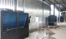 Heat pump heating wood drying kiln